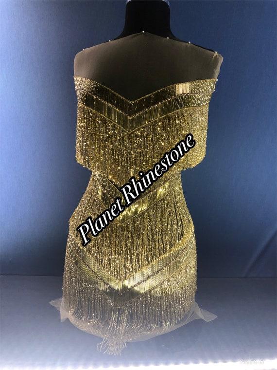Gold frainge bodice