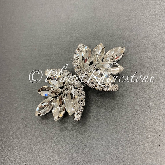 Silver Crystal Clasp Buckle #AS-15