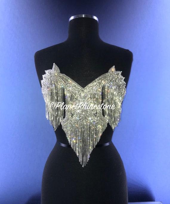 Bianca Crystal Fringe Bralette Applique