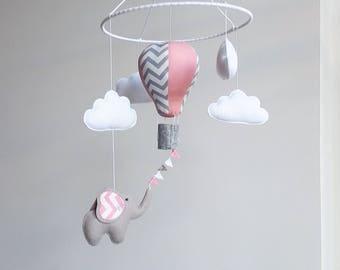 Baby crib mobile, air balloon mobile, nursery mobile, baby kit mobile, baby mobile, mobile handing