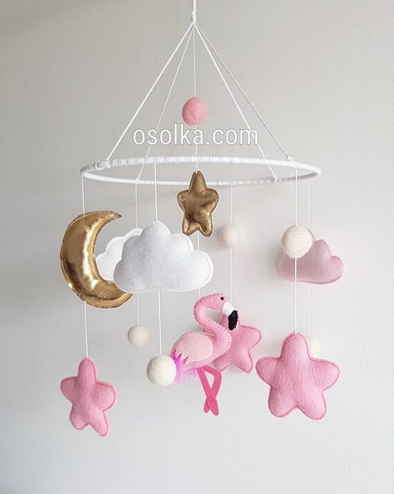 Mobile Kinderzimmer | Baby Kinderbett Mobile Flamingo Mobile Kinderzimmer Mobile Etsy