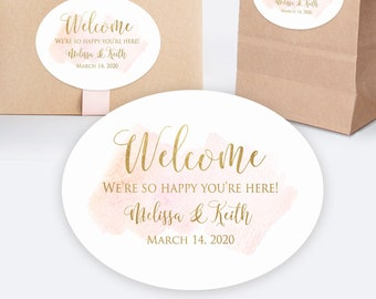 Custom Welcome Box Sticker Welcome Bag Stickers Thank You Sticker Personalized Wedding Favor Labels C019 Welcome Favor Stickers