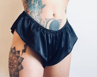 eed65856098d Black Guilty Silky Sexy French Knickers Handmade Ready To Ship