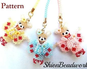 Child rabbit/Kimono  ,3D bead patterns ,Beading Tutorial