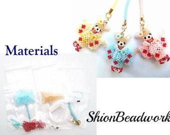 Child rabbit/Kimono  ,3D bead materials ,Beading,Free shipping