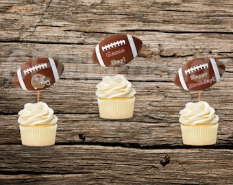 San Francisco 49er Cupcake Toppers Birthday Party PartyNFL NFL BirthdayInstant Printable