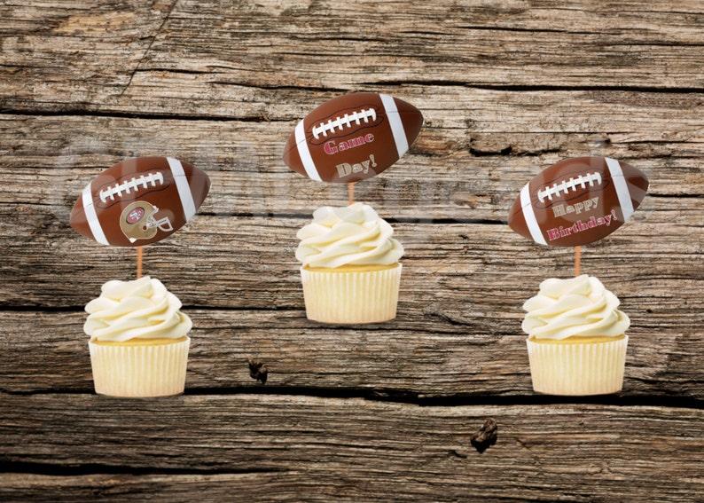 San Francisco 49er Cupcake Toppers