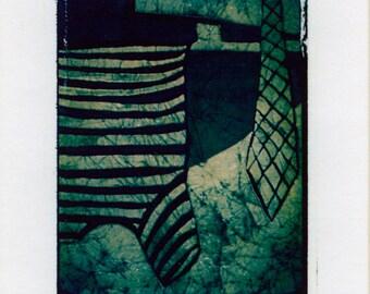 "Polaroid Transfer ""Shirt & Tie"" original decorative art Giclee print"