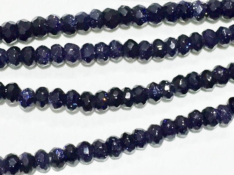 Faceted Blue Goldstone Beads image 0
