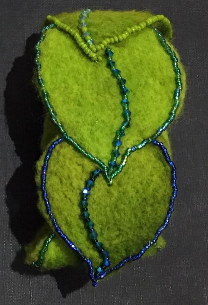 Felted Leaves Cuff image 0