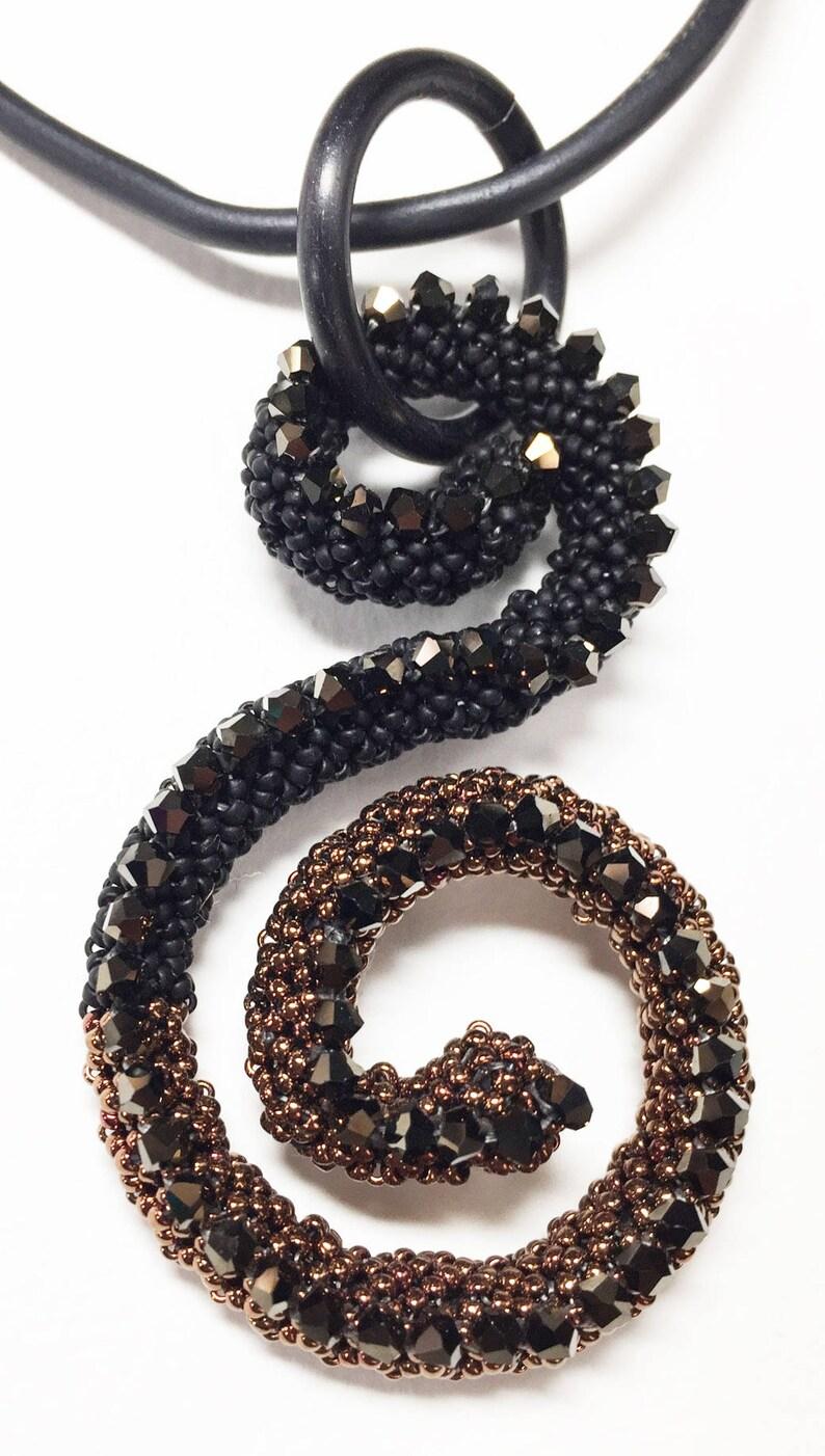 Treble Clef Pendant Kit Black & Bronze  image 0