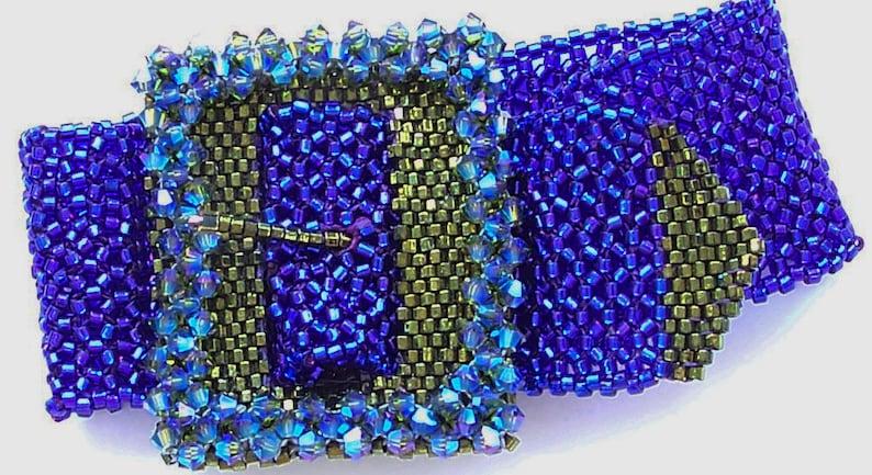 All Buckled Up Bracelet Kit  Cobalt & Olivine image 0