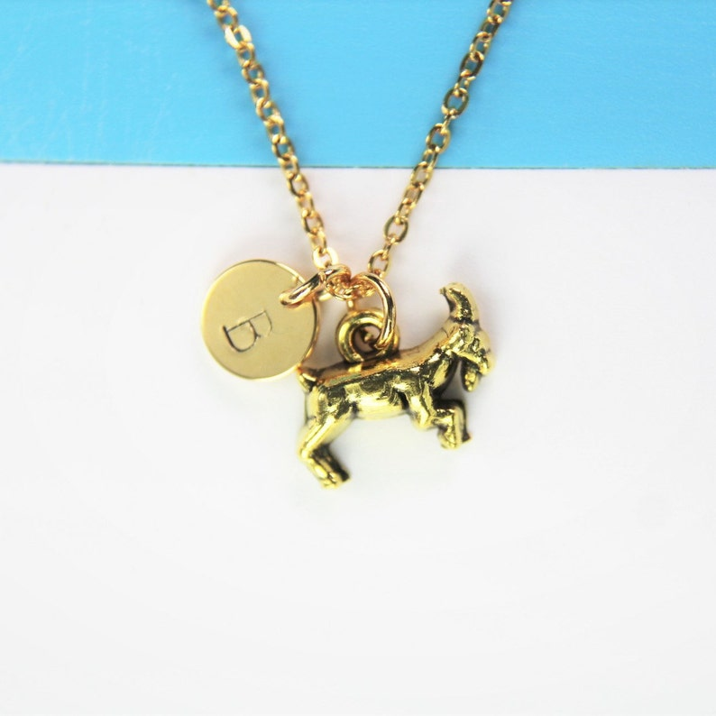 Best Valentine Gift Gold Goat Necklace Birthday Gift Holiday Gift Pet Gift Farmer Gift Animal Charm Mother/'s Day Personalized Gift
