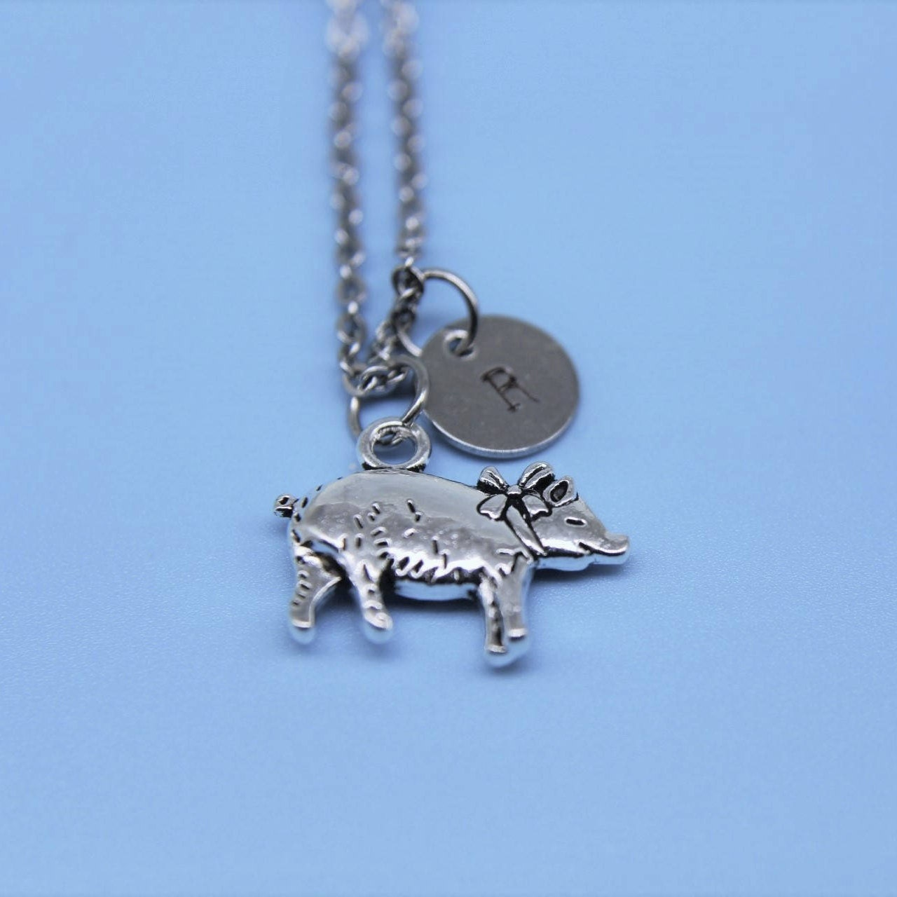 Pig Charm Bracelet: Silver Pig Charm Necklace Pig Charm Pig Jewelry Pig Gift