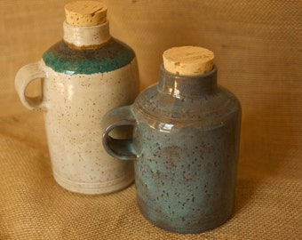 Ceramic Bottle with cork, Ceramic Jug with Cork, Coffee Carrier, Coffee Carafe, Coffee Jug, Ceramic Bottle