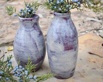 Ceramic Bottle With Lid Plum Colored Ceramic Bottle Bottle Collector/'s Gift Purple Pottery Lidded Ceramic Bottle Ceramic Vase