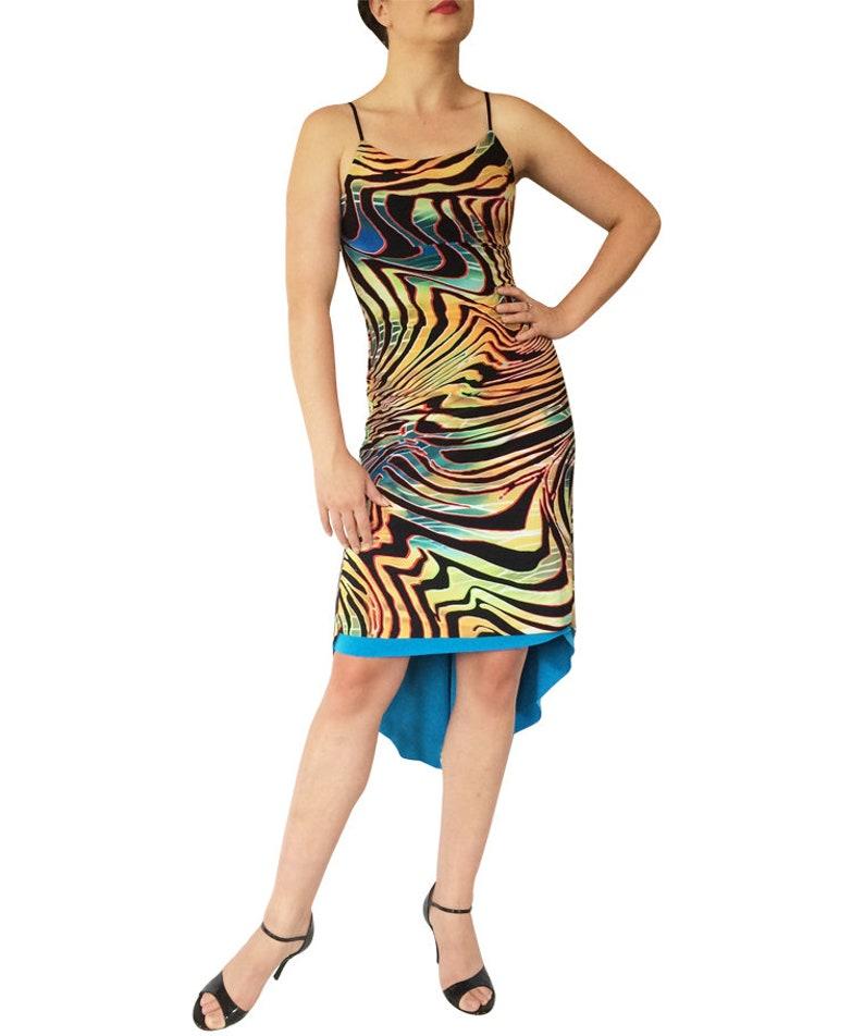 High Back Reversible Tango Dress; Fishtail Tango Dress; Milonga Dress