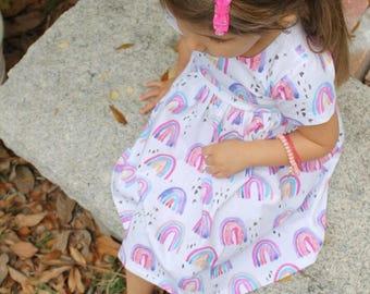 8c21ea93 Rainbow Dress, baby dress, toddler dress, girl dress, St. Patricks day, st  pattys dress, rainbows, holiday dress, irish dress