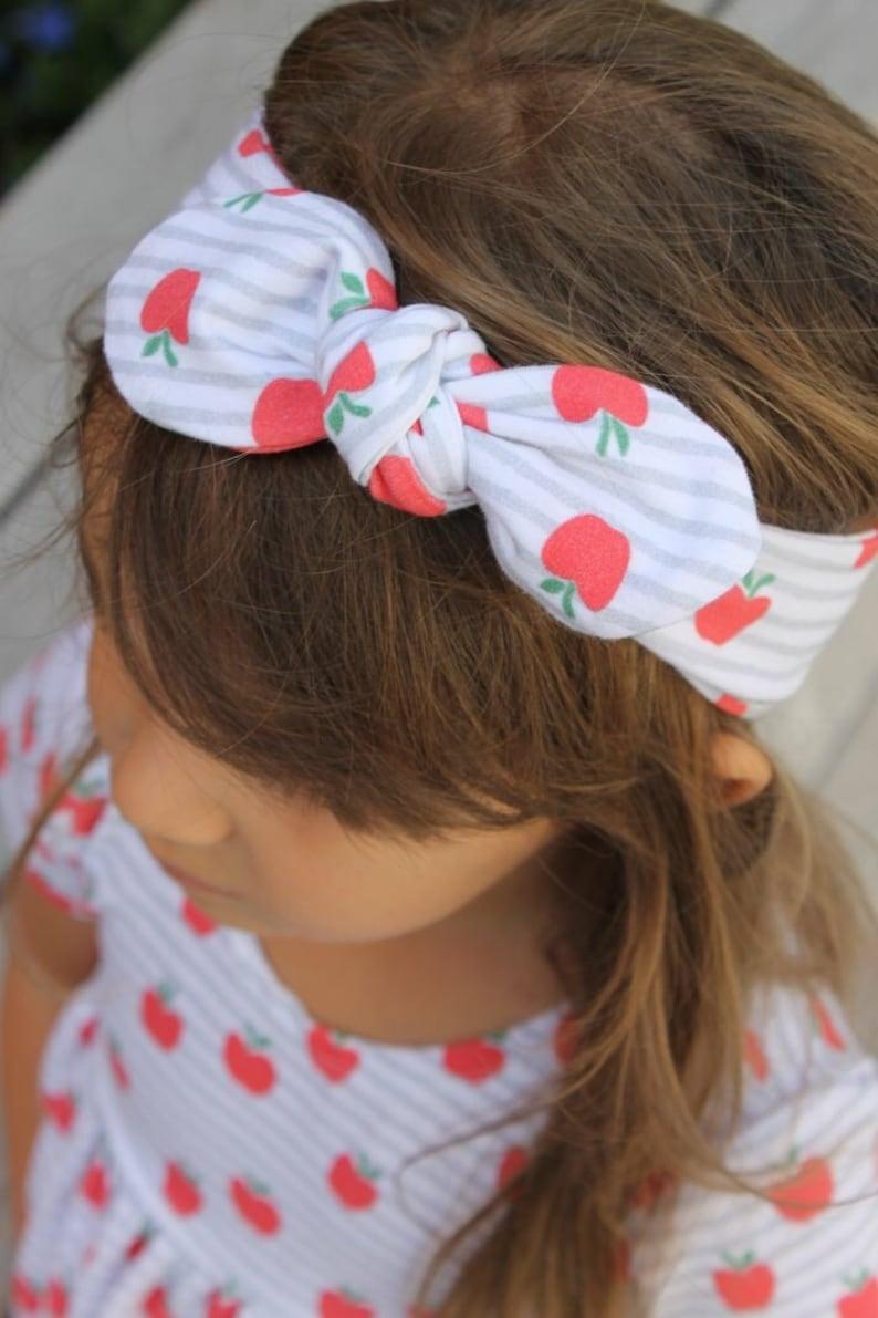 adult headband teacher headband Baby headband school accessor toddler headband A is for Apple Bow Knot girl headband back to school
