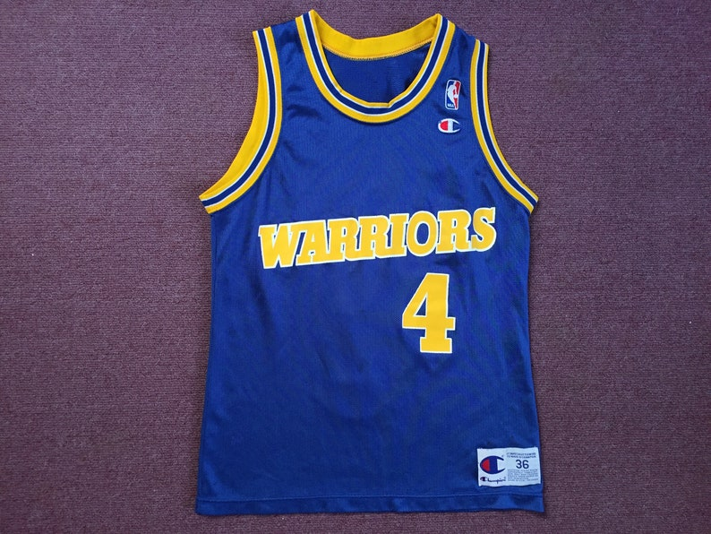 release date: 78270 e9cdc Vintage Golden State Warriors Champion Jersey Chris Webber Size 36 Men's  Small Women's Medium