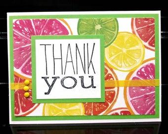 Fruit Slice Handmade Thank You Card