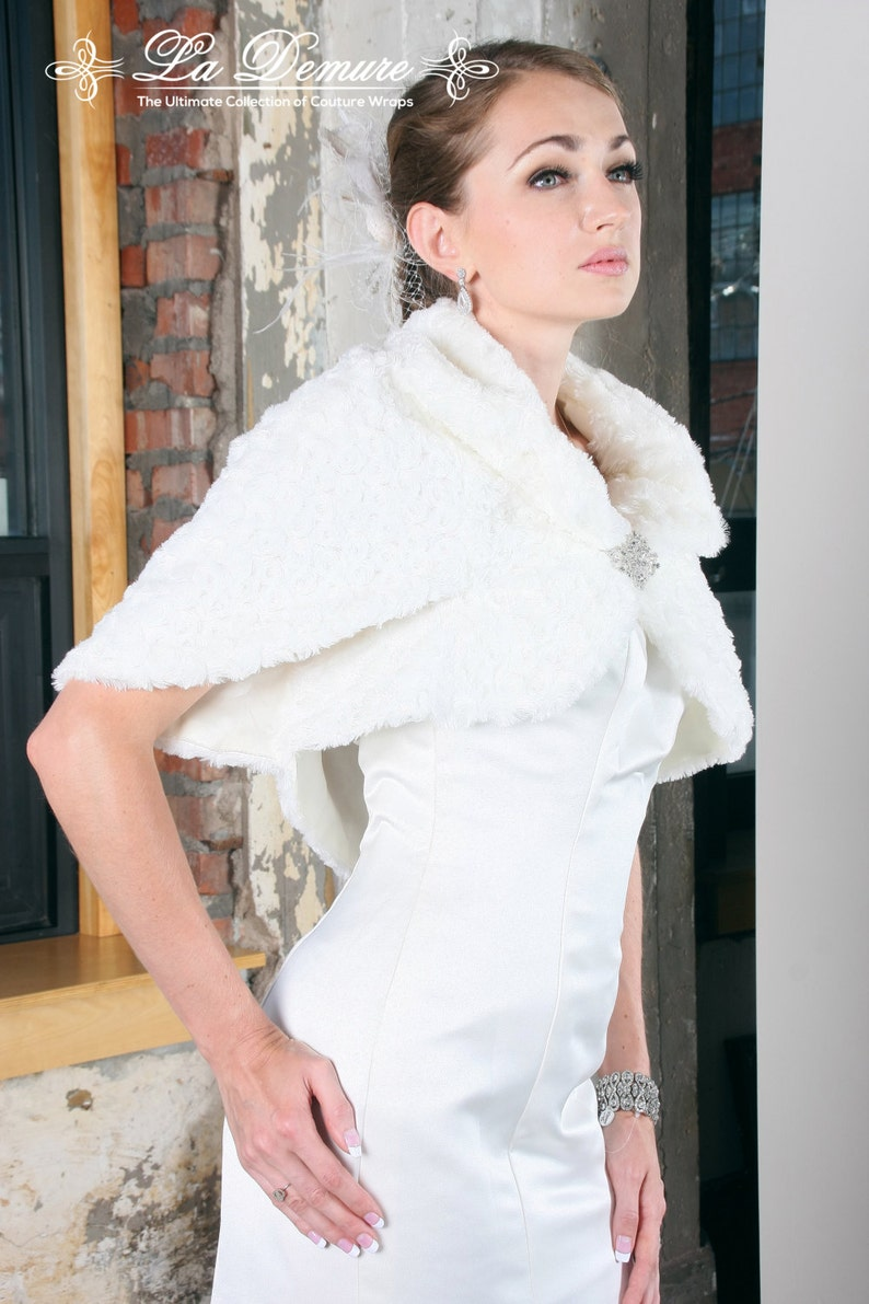 Faux Fur Shawl Wedding Wedding Jacket Wedding Dress Jackets Etsy