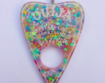 Kawaii Glitter Ouija Planchette Made From Resin