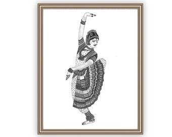 Bharatanatyam Art Etsy