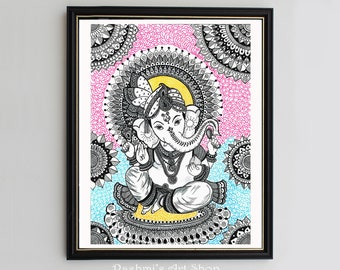 Ganesha Drawing Etsy