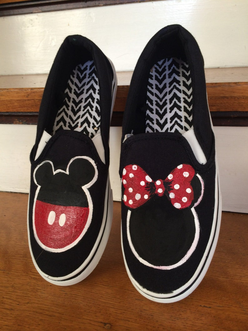 9abc1a1d2d8e Mickey and Minnie Mouse Hand Painted Shoes Mickey Mouse