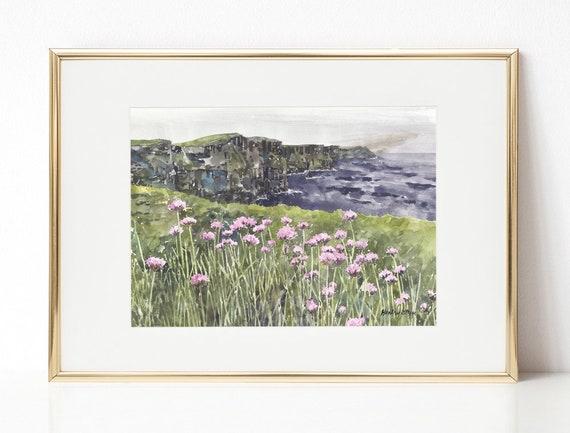 Emerald Isle Bedroom Decor Housewarming Gift Landscape Waterford Ireland Painting Mount Congreve Irish Gardens Pub Decor