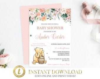 Winnie the pooh baby shower invitations Etsy