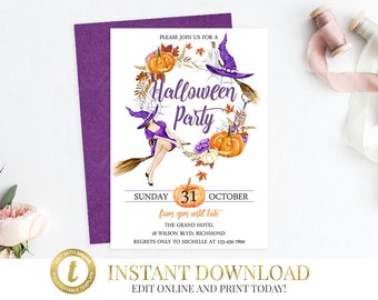 halloween party invitation halloween invitation halloween etsy
