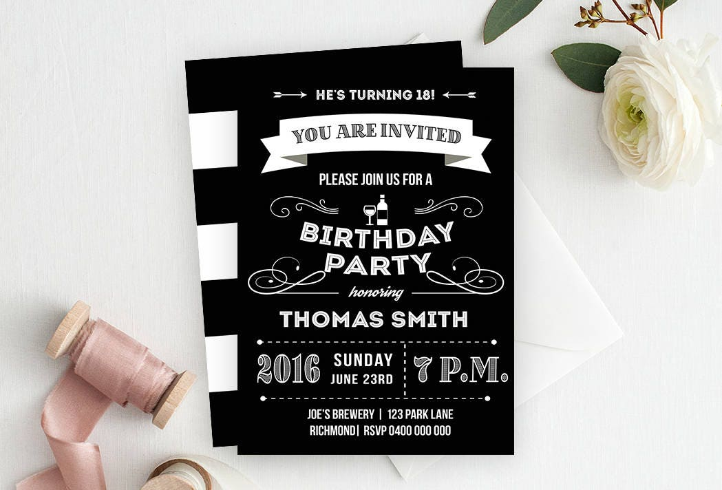 Invitations Birthday Adults Image collections - Invitation Templates ...