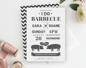 I Do BBQ, I Do BBQ Invitation, Couples Shower, Wedding Shower, Bridal Shower, BBQ Invitation, Printable Invitation, Engagement Party
