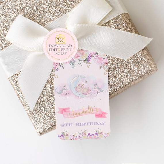 picture regarding Thank You Tag Printable titled Unicorn Birthday Celebration Thank By yourself Tags, Printable Unicorn