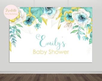 Baby Shower Backdrop, Baby Shower, Baby Shower Decorations, Printable Backdrop, YOU PRINT, Printable Backdrop, Party Backdrop