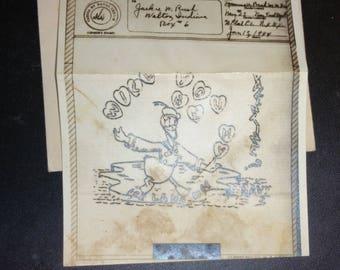 vintage 1944 V-Mail service envelope with valentine message