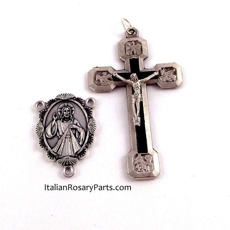 Rosary Medal Set Stations of The Cross Crucifix and Divine image 0