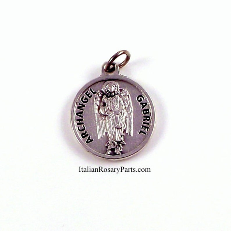 Saint Gabriel The Archangel Religious Medal With Prayer  image 0