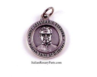 Saint Josemaria Escriva Healing Saint Medal Patron Saint of Diabetics Diabetes | Italian Rosary Parts