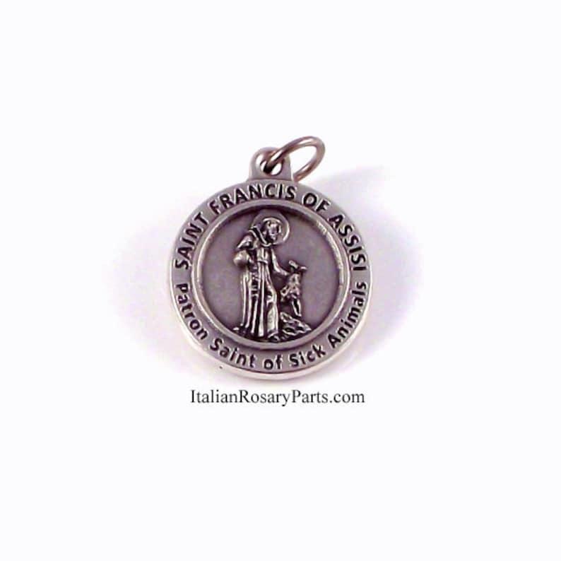 Saint Francis Patron of Sick Animals Religious Medal  Italian image 0