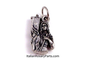 St Joan of Arc Bust Religious Medal Patron of Soldiers | Italian Rosary Parts