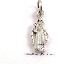 St Clare of Assisi Bracelet Charm Religious Medal Poor Clares | Italian Rosary Parts