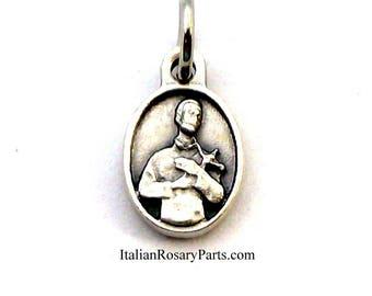 Saint Gerard Oval Bracelet Charm Medal Patron Saint of Fertility, Childbirth and Pregnancy   Italian Rosary Parts