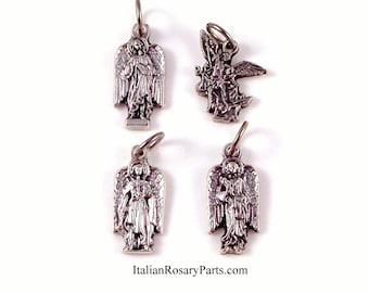 Set of Four Archangel Bracelet Medals St Michael, Uriel, Gabriel and Raffaele | Italian Rosary Parts
