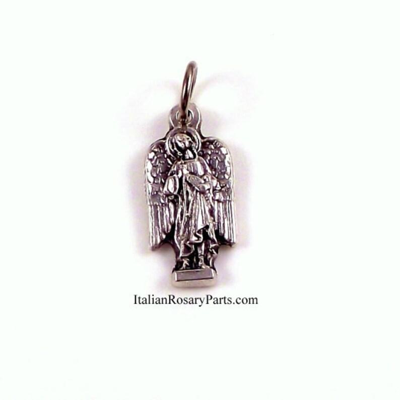 St Raphael The Archangel Bracelet Medal Charm  Italian Rosary image 0