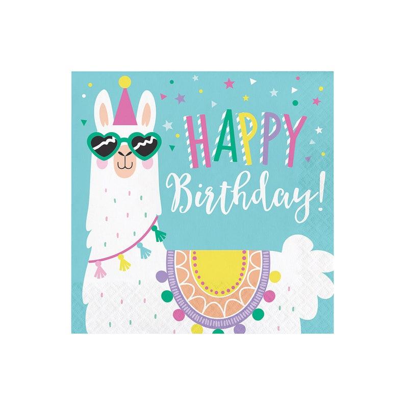 7480be697549d Llama Birthday Party Napkins - Large | Llama Party Supplies - Llama  Birthday Napkins - Llama Party Decor - Cactus Party - Alpaca Birthday