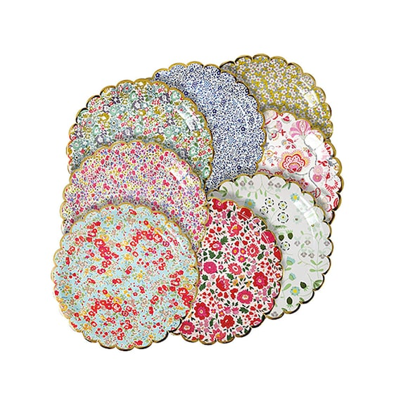 Liberty Floral Party Plates -Small | Paper Plates Garden Party Floral Wedding Hen Party Bridal Shower Baby Shower Wedding Shower Tea Party from ...  sc 1 st  Etsy Studio & Liberty Floral Party Plates -Small | Paper Plates Garden Party ...