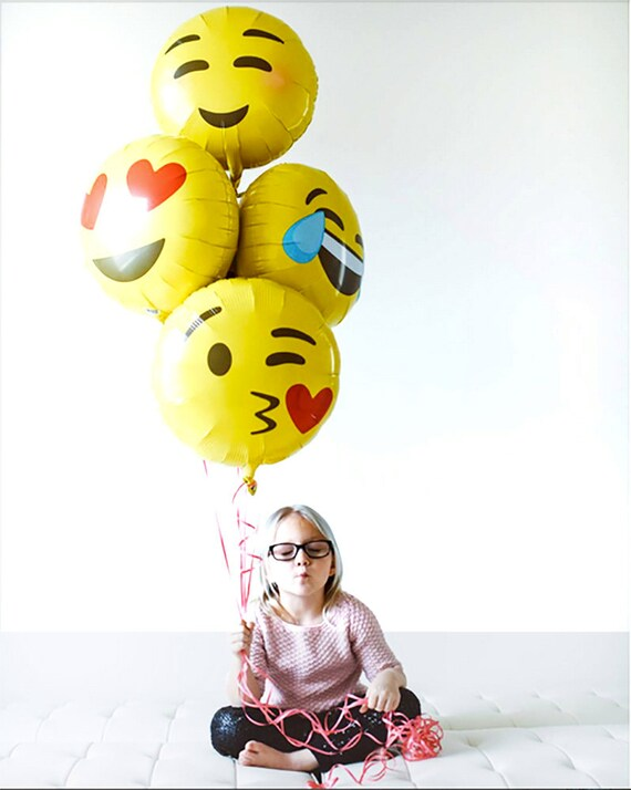 Emoji Party Balloons Birthday Balloon Decor